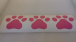 3 x dog paw pink car bumper sticker decal ideal for fundraising van boat shop window